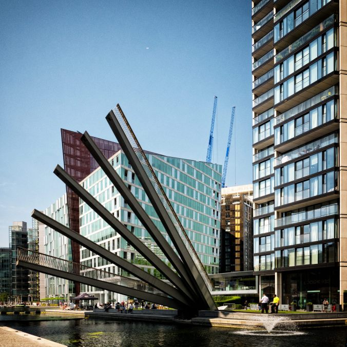 Paddington Basin Finger Bridge - Barry Teutenberg
