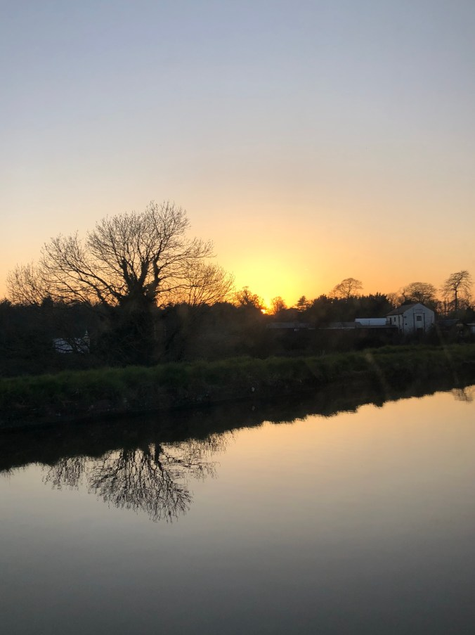 Nantwich sunset March 2020