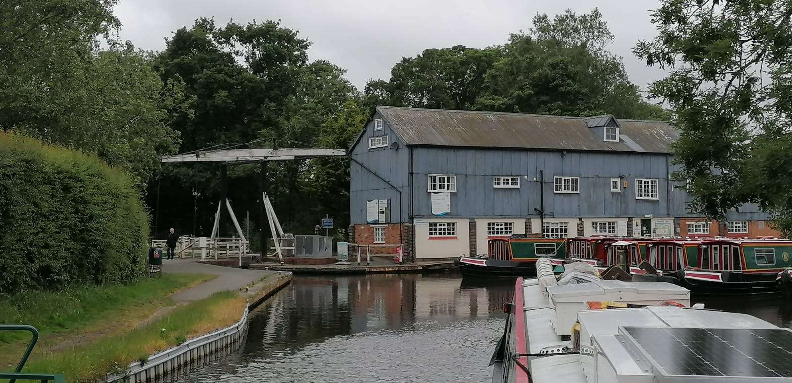 Wrenbury Lift Bridge June 2020