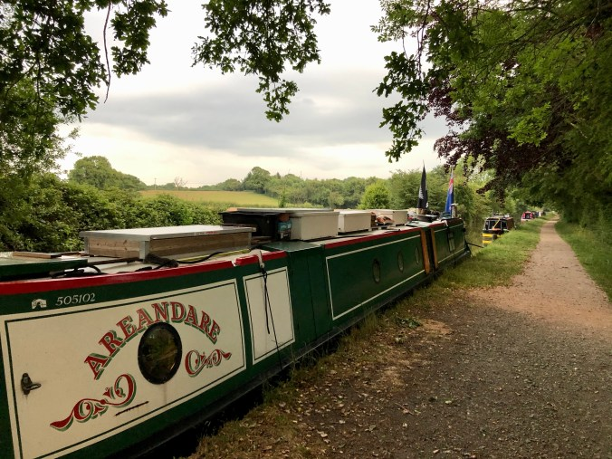 NB Areandare on the Llangollen Canal June 2020
