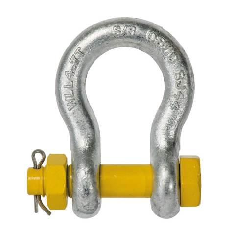 """Yellow Pin Grade """"S"""" Safety pin Bow Shackles"""
