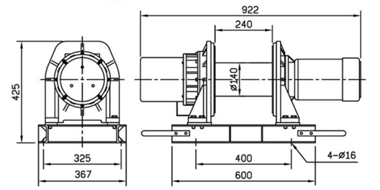 30151 Electric Winch SPEC DRAWING