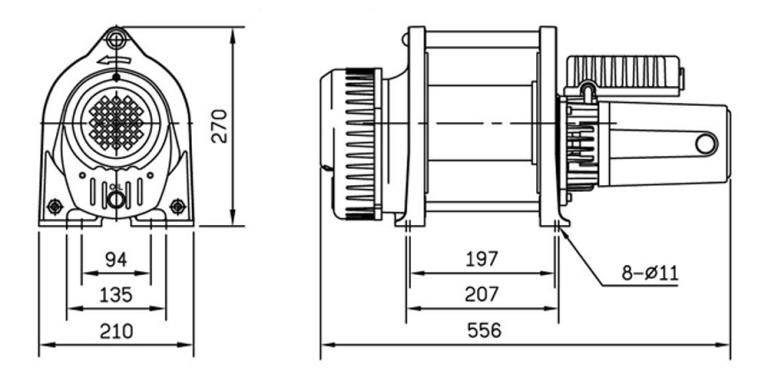CWL301L SPEC DRAWING