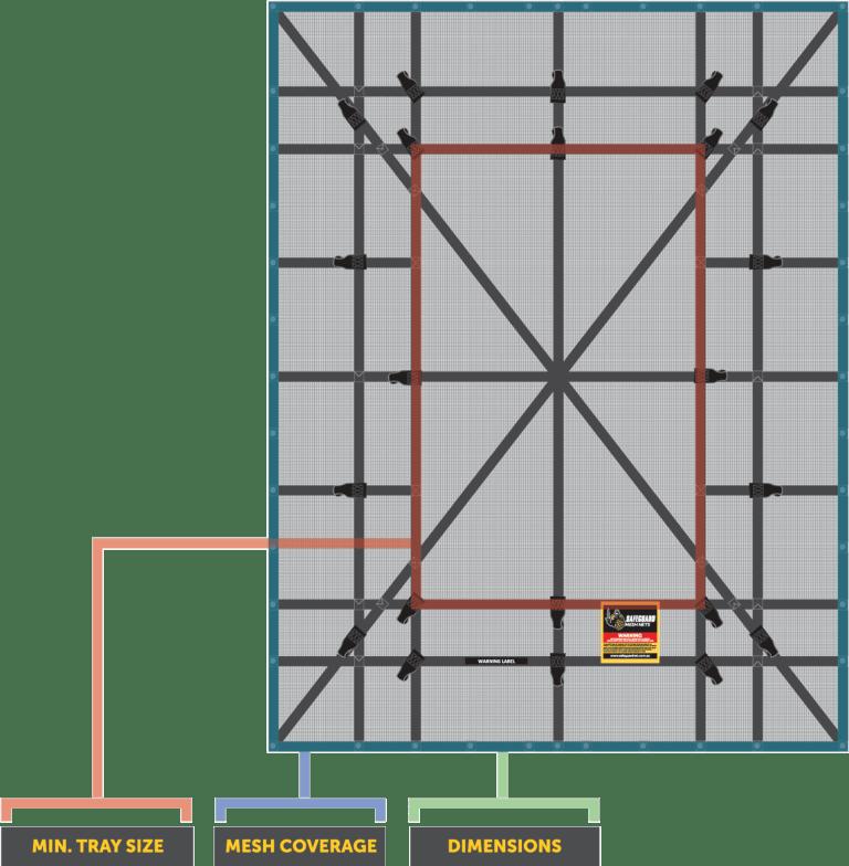 SUMN-200 Cargo Net Size Chart