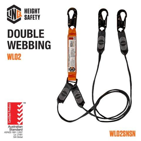 Double Leg Webbing Lanyard Code WLO2SNSN