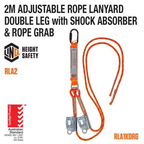 Adjustable Double Rope Lanyard RLA2KDRG