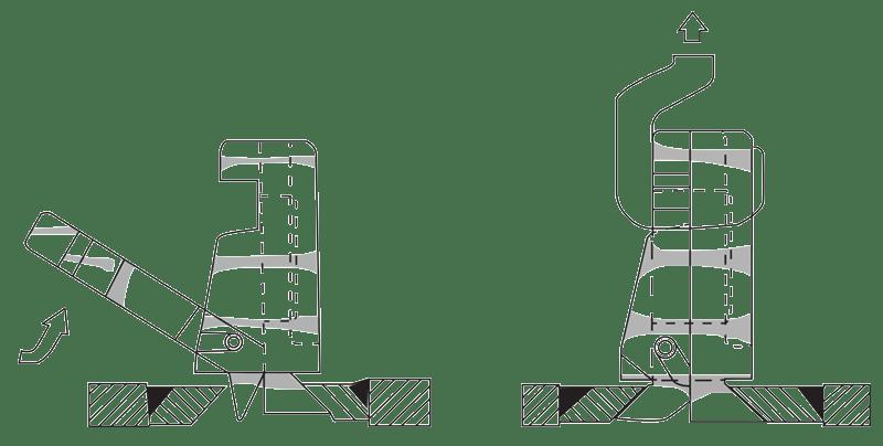 Lock N Lift Instruction Steps 3 & 4