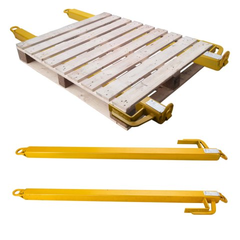 Pallet Lifting Bars on Pallet