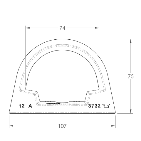 Bolt-on Anchor Point Spec Drawing