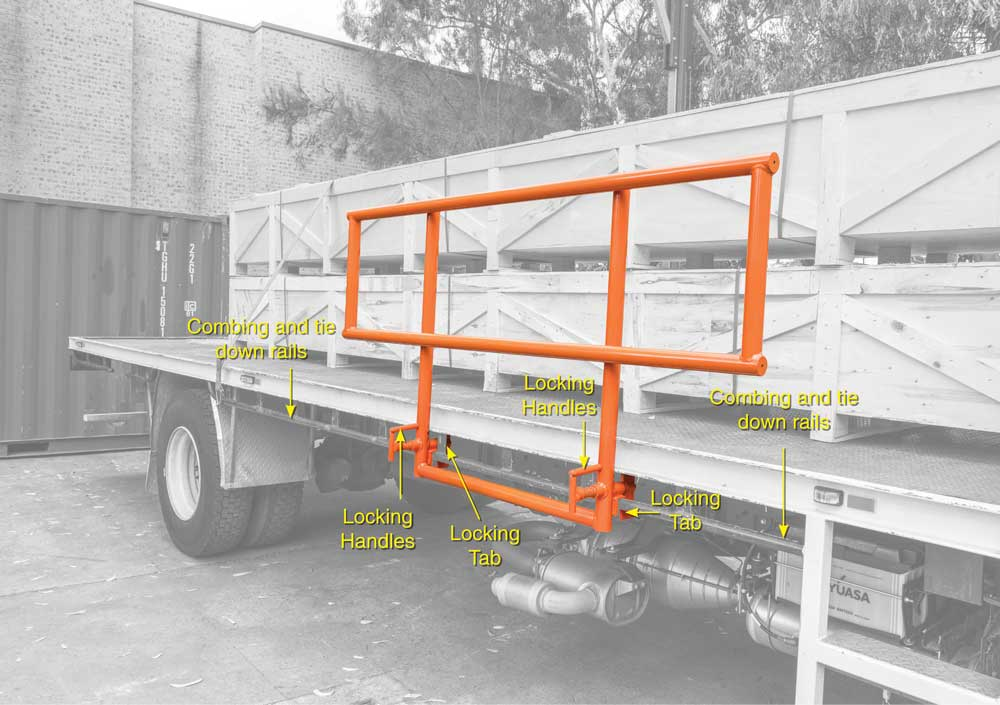 The Flat Bed Trailer Mini Edge Protection System (TMEPS) Parts Identification