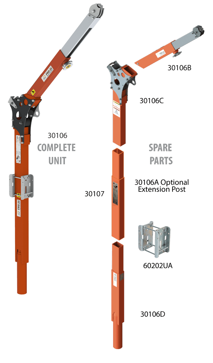Pro-3G Davit Complete & Exploded view