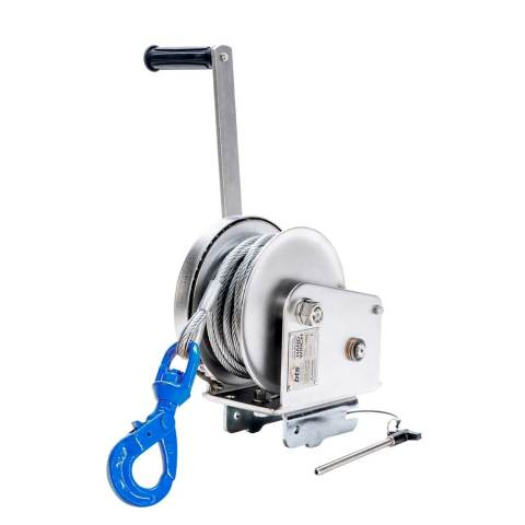 S/S Material Winch c/w Female Interface Bracket with 18m x 6mm S/S W/R with G100 Swivel S/L HK