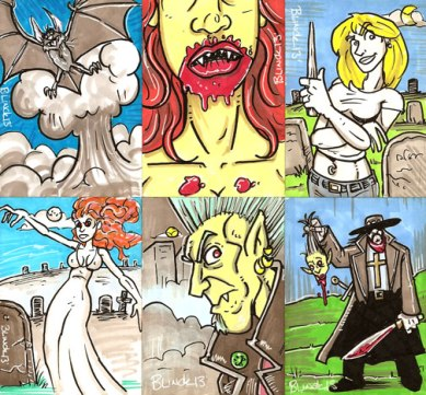Sketch Cards for Cult Stuff