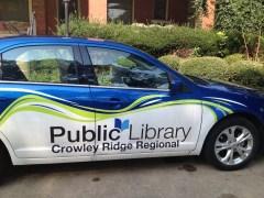 One of the Jonesboro Library's sweet rides.