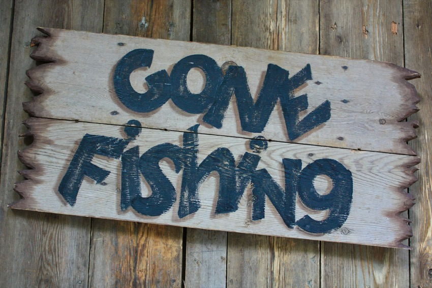 gone fishing image