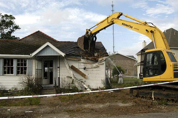 home being demolished