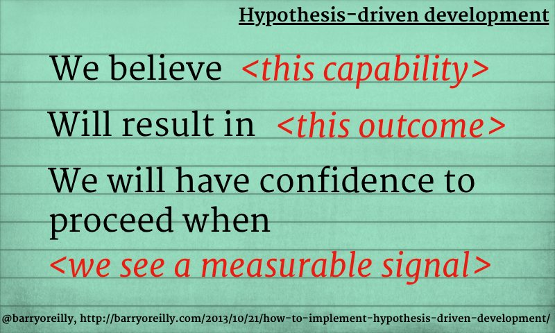 How to implement Hypothesis-Driven Development