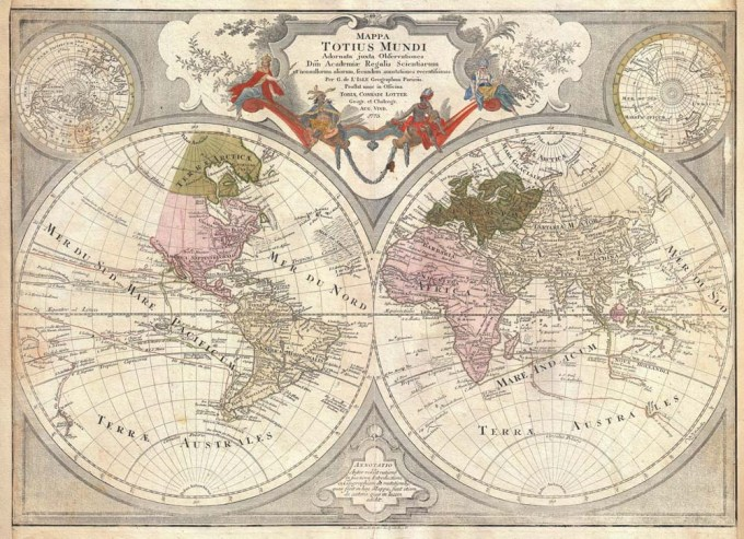1775_Lotter_Map_of_the_World_on_a_Hemisphere_Projection_-_Geographicus_-_TotiusMundi-lotter-1775