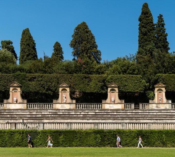 Boboli Gardens, Pitti Palace, Florence, Italy.