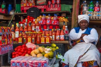 Seller at the Local Market, Ponta do Ouro, Mozambique