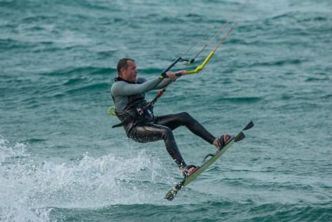 Kite Surfer Takes Off
