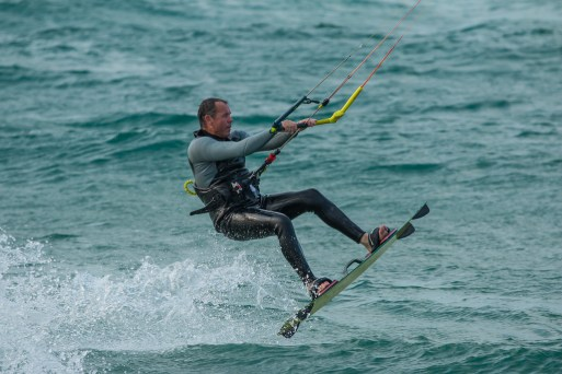Kite Surfer Takes Off