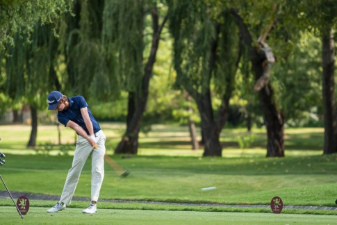 A Player Tees Off at The CGGU Northern Amateur