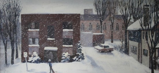 The Dufferin Arms, Winter by Barry Trower (1989).