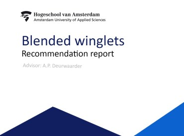Project 'Blended Winglets' (Aviation year 4)