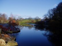 The National Botanic Garden of Wales is 60 miles W of Cardiff