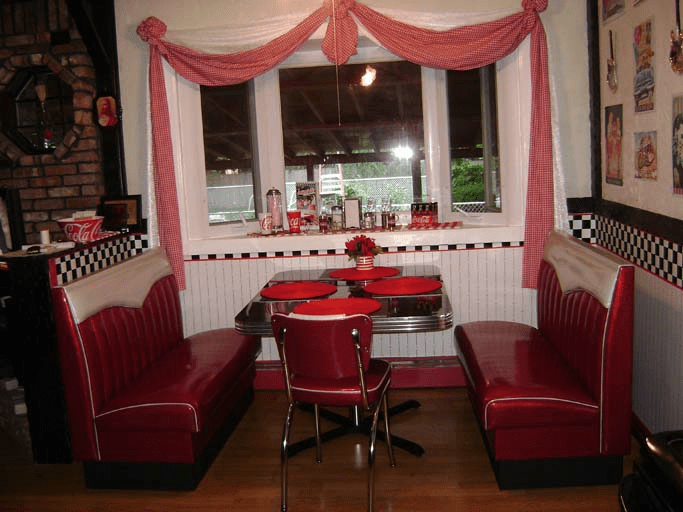 Joans Retro Kitchen Diner Booth