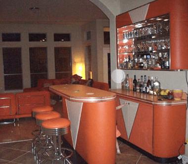 Retro Bar Vintage Wine Rack Living Room Custom Entertainment Area