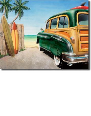 Retro Auto - Beach Woody Tin Sign