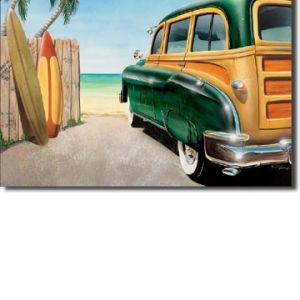 Retro Auto - Beach Woody Tin Sign