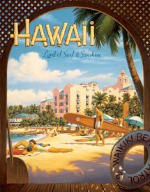 Erickson - Hawaii Sun and Surf Tin Sign