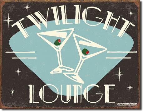 Schonberg Twilight Lounge Tin Sign