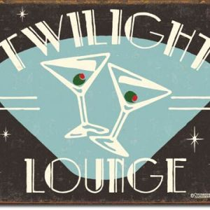 Schonberg Twilight Lounge Tin Sign