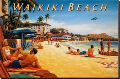 Erickson - Waikiki Beach Tin Sign
