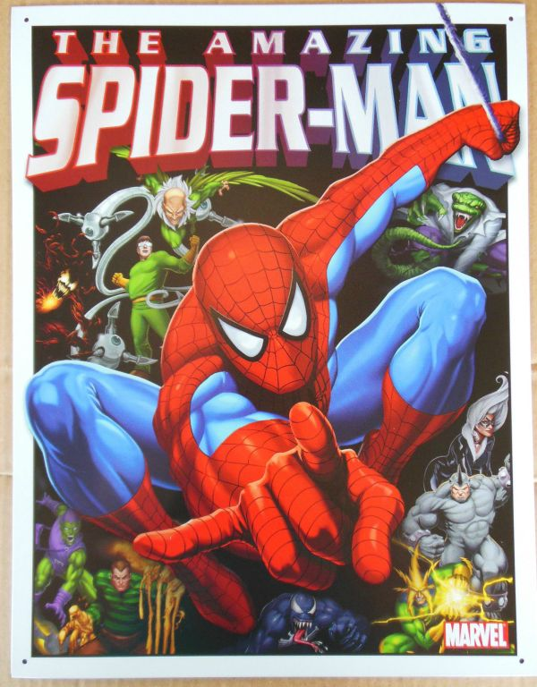 Spider-Man & His Foes Tin Sign