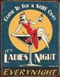Moore - Ladies Night Tin Sign