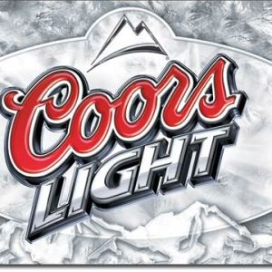 Coors Light Frosted Tin Sign