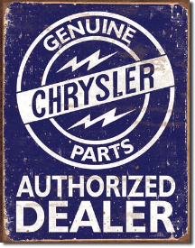 Chrysler Parts Tin Sign