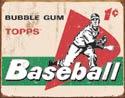TOPPS - 1958 Baseball Cards Tin Sign