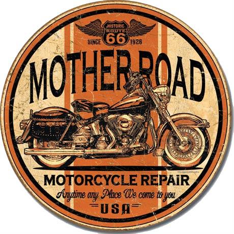 Mother Road Repair Tin Sign