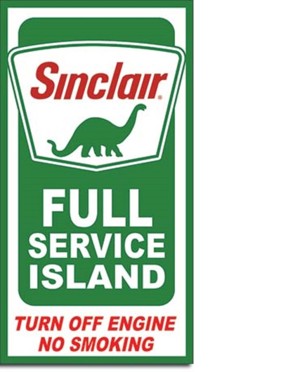 Sinclair Service Island Tin Sign