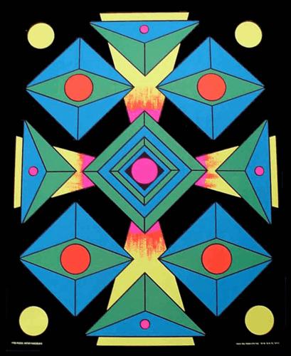Focus Black Light Poster 1970
