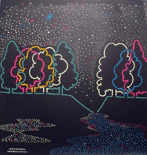 Neon Nites Black Light Poster 1969
