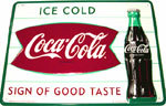 "Coca-Cola Button - ""Sign of Good Taste"""