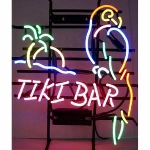 Tiki Bar Parrot Neon Sign