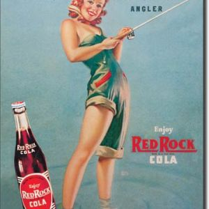 Red Rock/ Girl Fishing Tin Sign